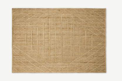 An Image of Aminatta Rug, Large 160 x 230cm, Natural Jute