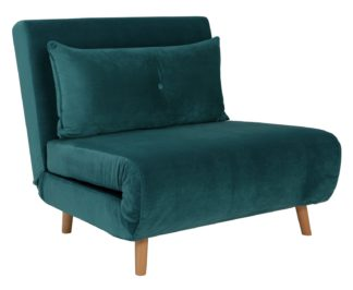 An Image of Habitat Roma Fabric Chairbed - Teal