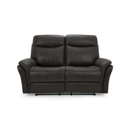 An Image of Monte Faux Suede Reclining 2 Seater Sofa - Grey Grey