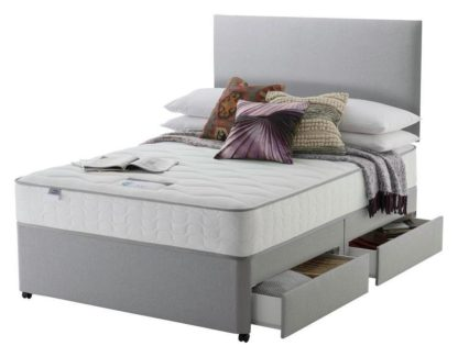 An Image of Silentnight Middleton 800 PKT Comfort 4DRW Grey King Size
