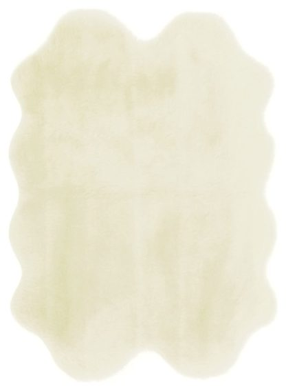 An Image of Homemaker Faux Fur Rug - 120x150cm - Natural