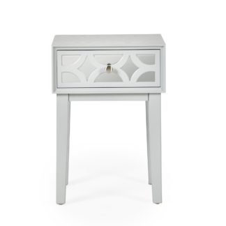 An Image of Delphi 1 Drawer Bedside Table Grey