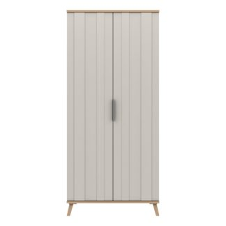 An Image of Murray Wide 2 Door Wardrobe Off-White