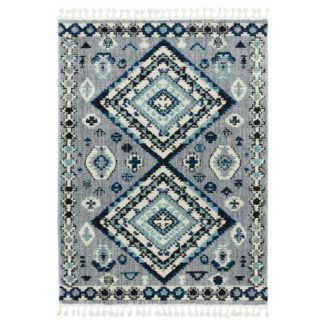 An Image of Asiatic Cyrus Persian Shaggy Rectangle Rug - 120x170cm -Blue