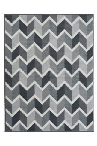An Image of Homemaker Adorn Chevron Rug - 80x150cm - Grey