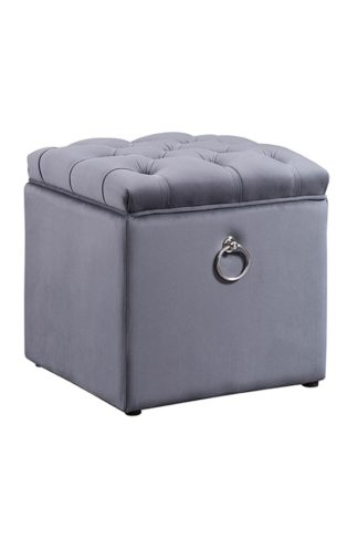 An Image of Antoinette Storage Ottoman - Storm Grey