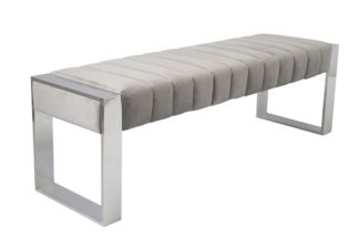 An Image of Judd Bench Silver - Dove Grey