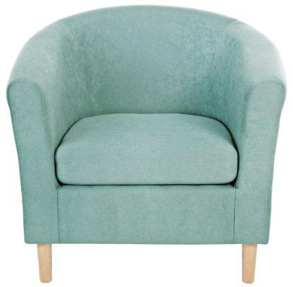 An Image of Habitat Fabric Tub Chair - Light Grey