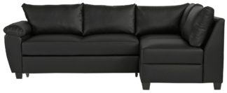 An Image of Argos Home Fernando Right Corner Sofa Bed - Black
