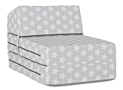 An Image of Argos Home Silver Stars Chair Bed