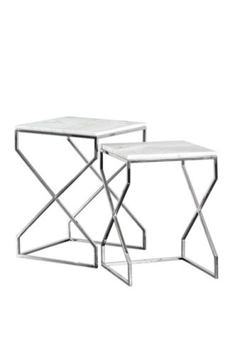 An Image of Alhambra Silver Nesting tables