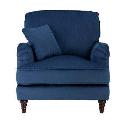 An Image of Habitat Matilda Velvet Armchair - Blue