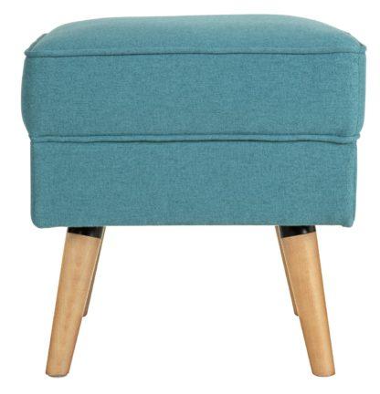 An Image of Habitat Callie Fabric Footstool - Teal