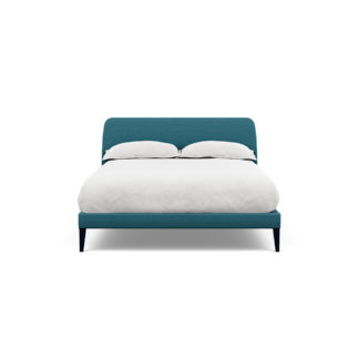 An Image of Heal's Wallis Bedstead Double Brushed Cotton Cadet Black