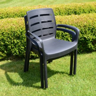 An Image of Trabella Salerno Set of 2 Chairs Grey