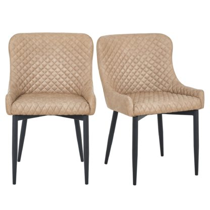 An Image of Montreal Set of 2 Dining Chairs Mink PU Leather Mink