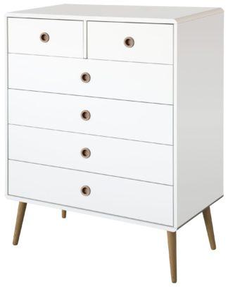 An Image of Softline 4+2 Drawer Chest - White