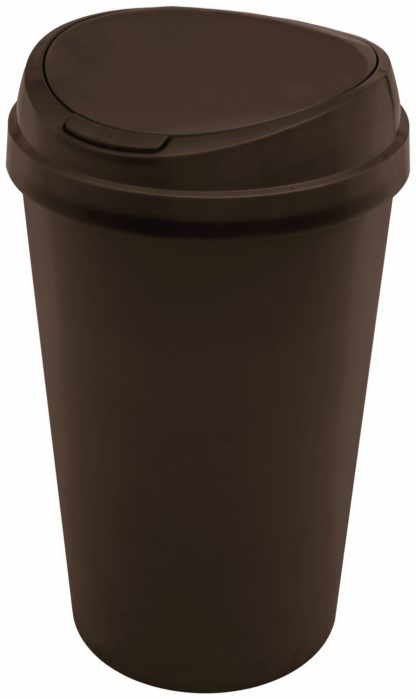 An Image of Curver 45 Litre Touch Top Bin - Black