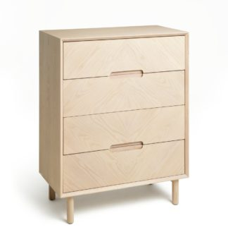An Image of Habitat Halden Skandi 4 Drawer Chest - Natural