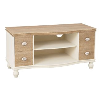 An Image of Jule TV Stand Cream and Brown
