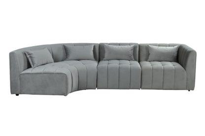 An Image of Essen Left Hand Curved Corner Sofa – Dove Grey