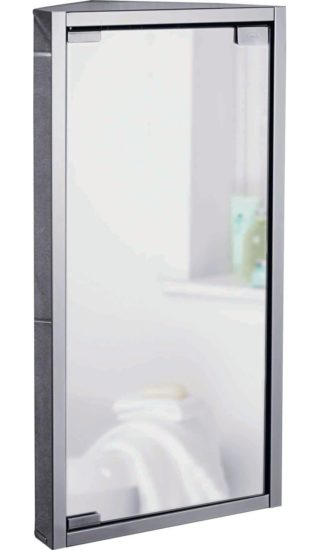 An Image of Argos Home Stainless Steel 1 Door Mirrored Cabinet