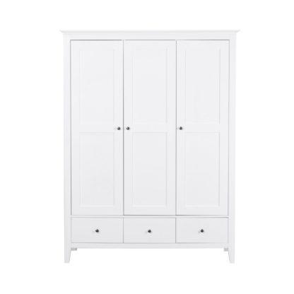 An Image of Lynton White Triple Wardrobe White