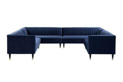 An Image of Baxter Super Lounge suite – Navy Blue