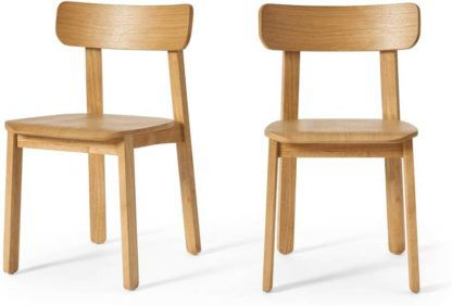 An Image of Asuna Set of 2 Dining Chairs, Oak