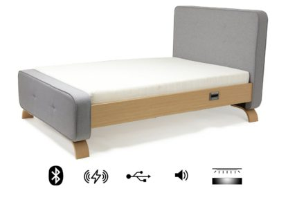 An Image of Koble Sove Wireless Charging Bluetooth Kingsize Bed Frame