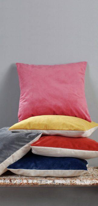 An Image of Argos Home Matt Velvet Cushion - Blush Pink