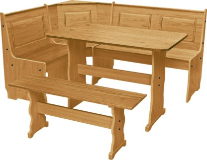 An Image of Argos Home Puerto Rico Solid Wood Nook Table & Corner Bench