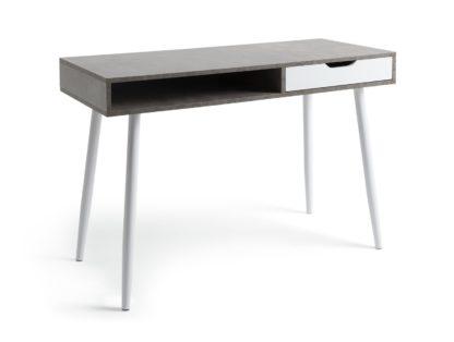 An Image of Habitat Concrete Style Office Desk - Grey