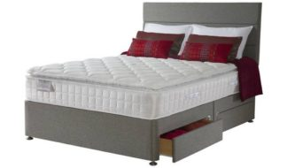 An Image of Sealy Posturepedic 1400 Pocket Latex 2 Drawer Double Divan