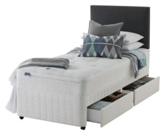 An Image of Silentnight Travis Miracoil Ortho 2 Drawer Divan - Single