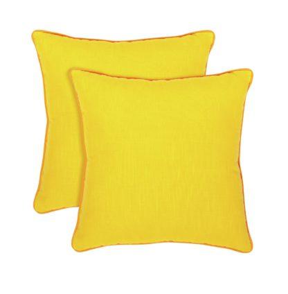 An Image of Habitat Cushion 2 Pack - Yellow