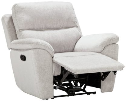 An Image of Argos Home Sandy Fabric Manual Recliner Chair - Charcoal