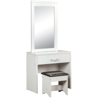 An Image of Charles 1 Drawer Dressing Table Set White
