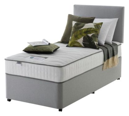 An Image of Silentnight Middleton 800 Pkt Memory Single Divan Bed - Grey