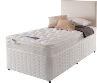 An Image of Silentnight Auckland Luxury Single Divan Bed - White