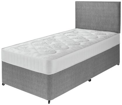An Image of Argos Home Elmdon Comfort Single Divan Bed - Grey