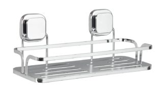 An Image of Argos Home Flat Plate Suction Bathroom Shelf