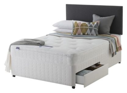 An Image of Silentnight Travis Ortho 2 Drawer Divan - Small Double