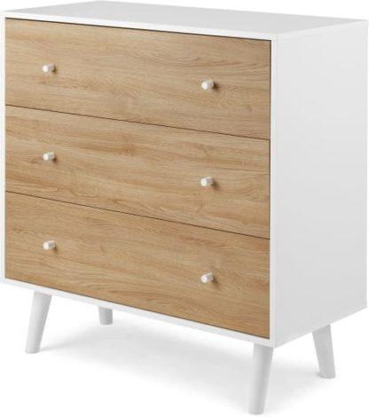 An Image of Larsen Chest Of Drawers, Oak & White