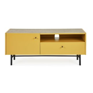 An Image of Oliver Wide TV Stand Ochre