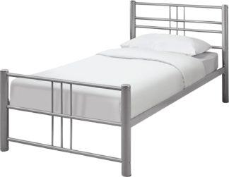 An Image of Argos Home Atlas Single Metal Bed Frame - Silver