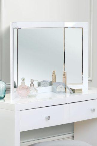 An Image of COLLETA White Triple Folding Mirror