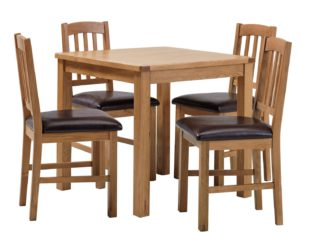 An Image of Habitat Ashwell Oak Veneer Dining Table & 4 Chairs