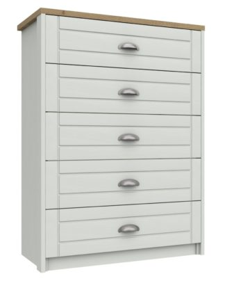 An Image of Kielder 5 Drawer Chest - White