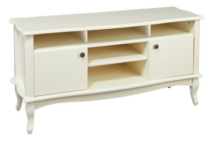 An Image of Argos Home Serenity 2 Door TV Unit - Off-White
